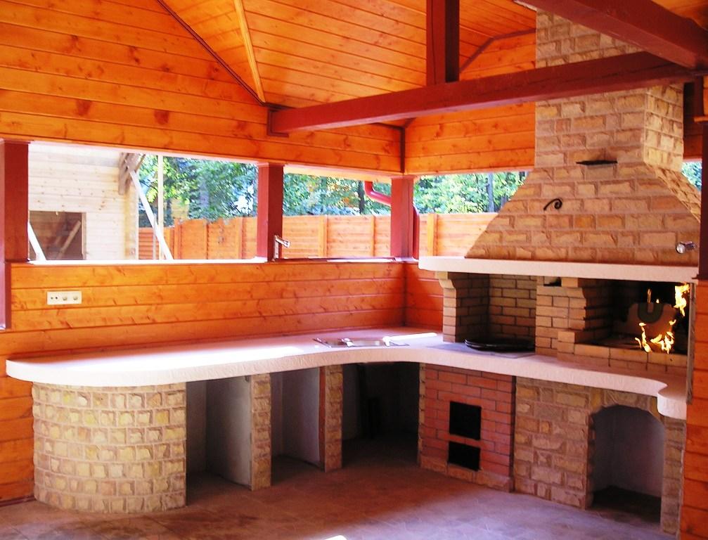 Проекты и фото летних кухонь для дачи 22